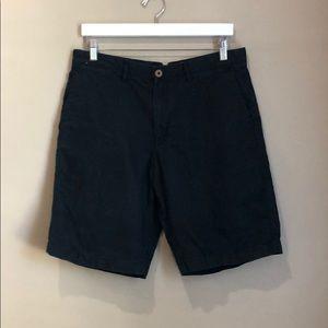 Men's Black Linen Shorts